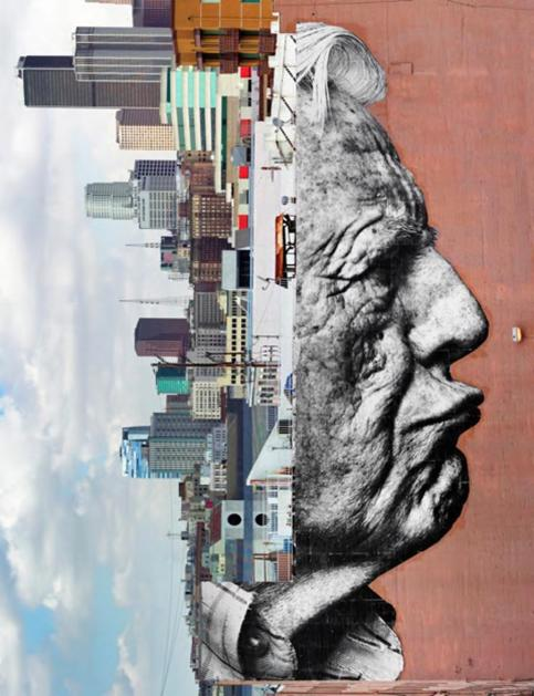 "JR, ""The wrinkles of the city"" (2011)"