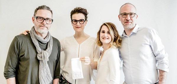 Vendredi 6 avril, l actrice Armelle Lesniak s est rendue à l ISO Bordeaux  pour le shooting de sa paire de lunettes signée Meg Eyewear. 8efa54590211
